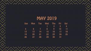 May 2019 HD Calendar Wallpaper