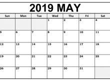 May Calendar 2019 Template