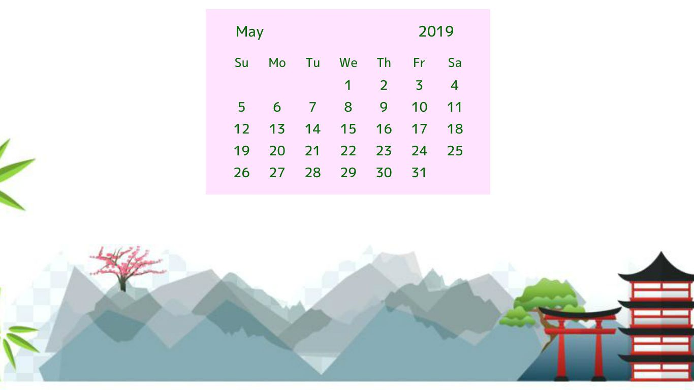may 2019 nature calendar wallpaper