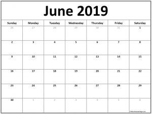 2019 Calendar June PDF