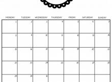 Decorative July 2019 Calendar Cute