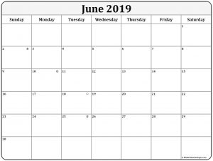 June 2019 Lunar Calendar
