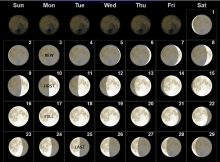 Moon Phases Calendar June 2019
