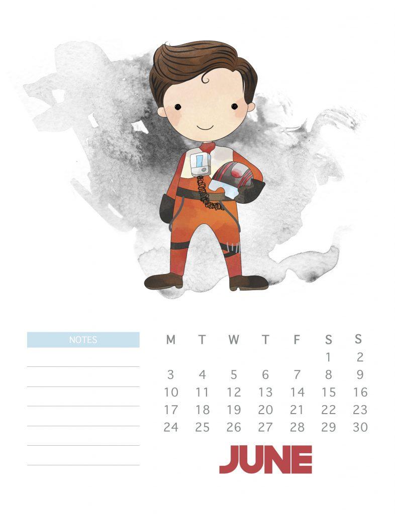 Pretty June 2019 Calendar