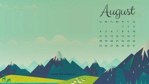 Cute August 2019 Calendar Wallpaper