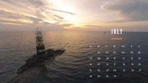 Desktop Calendar Wallpaper For July 2019