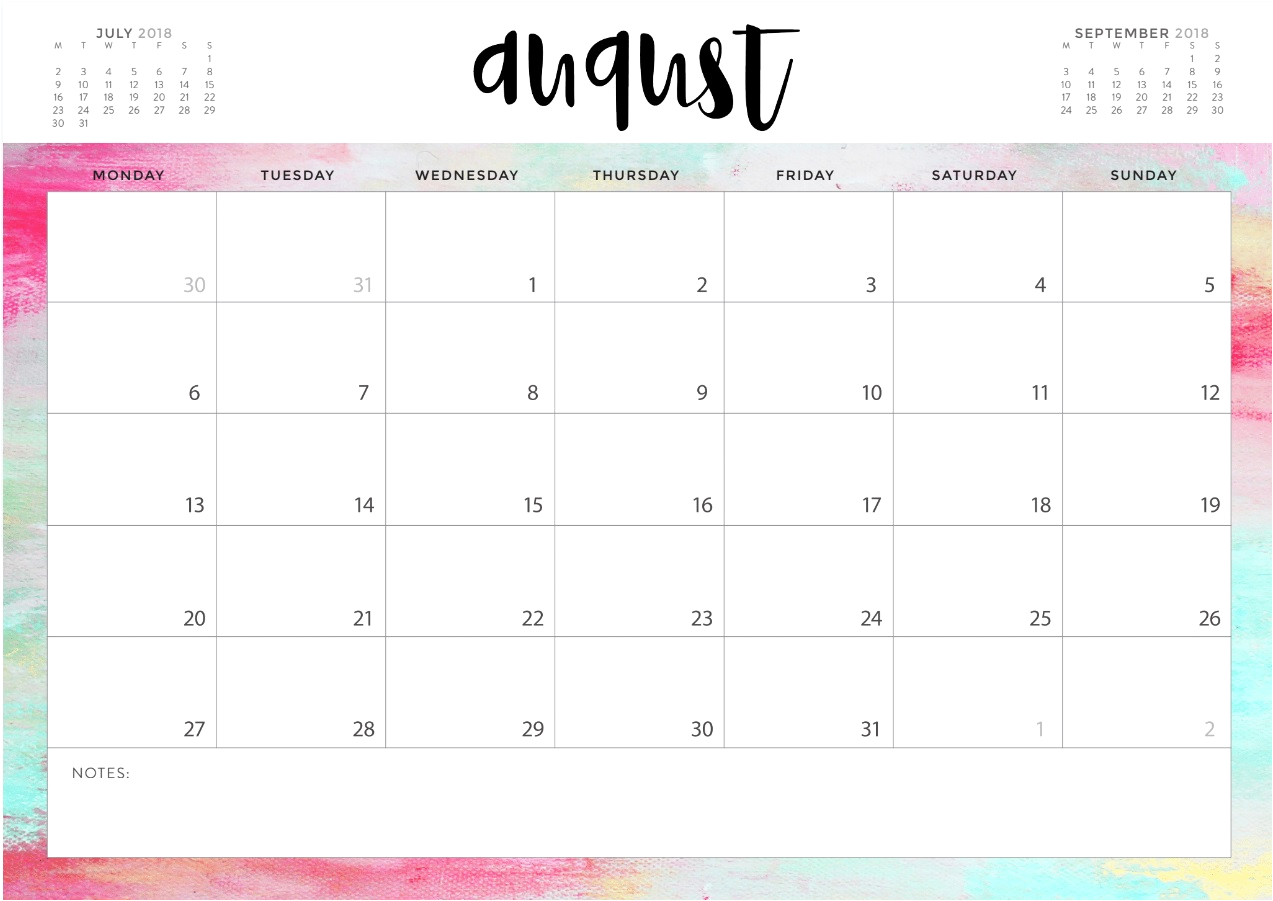 photograph about Free Printable Calendar August referred to as August Calendar 2019 Printable Blank Template With Editable