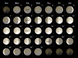 July 2019 Lunar Calendar