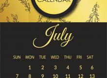 July 2019 Wall Calendar Template
