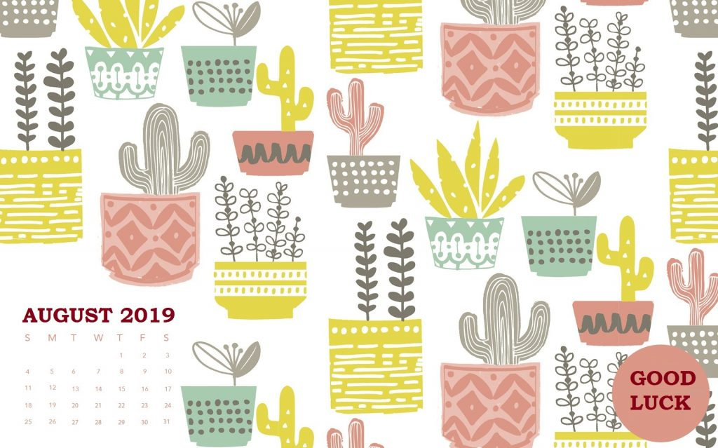 August 2019 Calendar Background