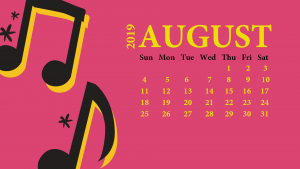 August 2019 Desktop Wallpaper With Calendar