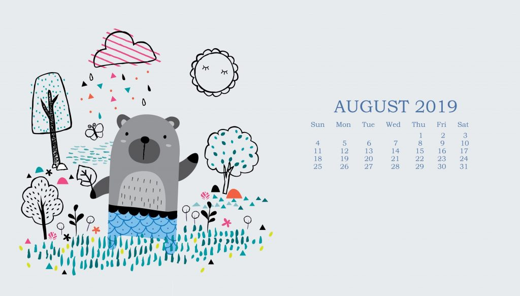Best August 2019 Calendar Wallpaper