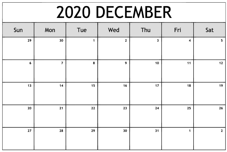 picture about Calendar 2020 Printable called December 2020 Printable Calendar - Absolutely free Printable Calendar
