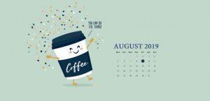 Desktop August 2019 Background Wallpaper