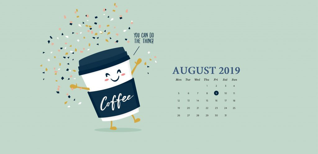 Desktop August 2019 Background Wallpaper