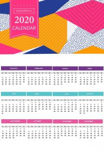 Printable 2020 Wall Calendar
