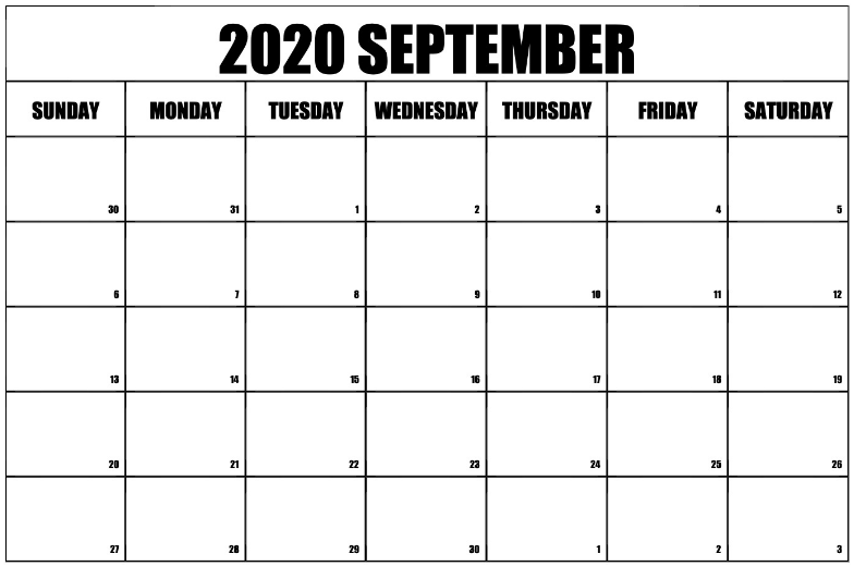 picture about Free Printable 2020 Calendar With Holidays known as September 2020 Printable Calendar - No cost Printable Calendar