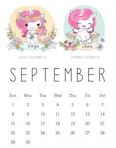 Cute September 2019 Calendar For Kids