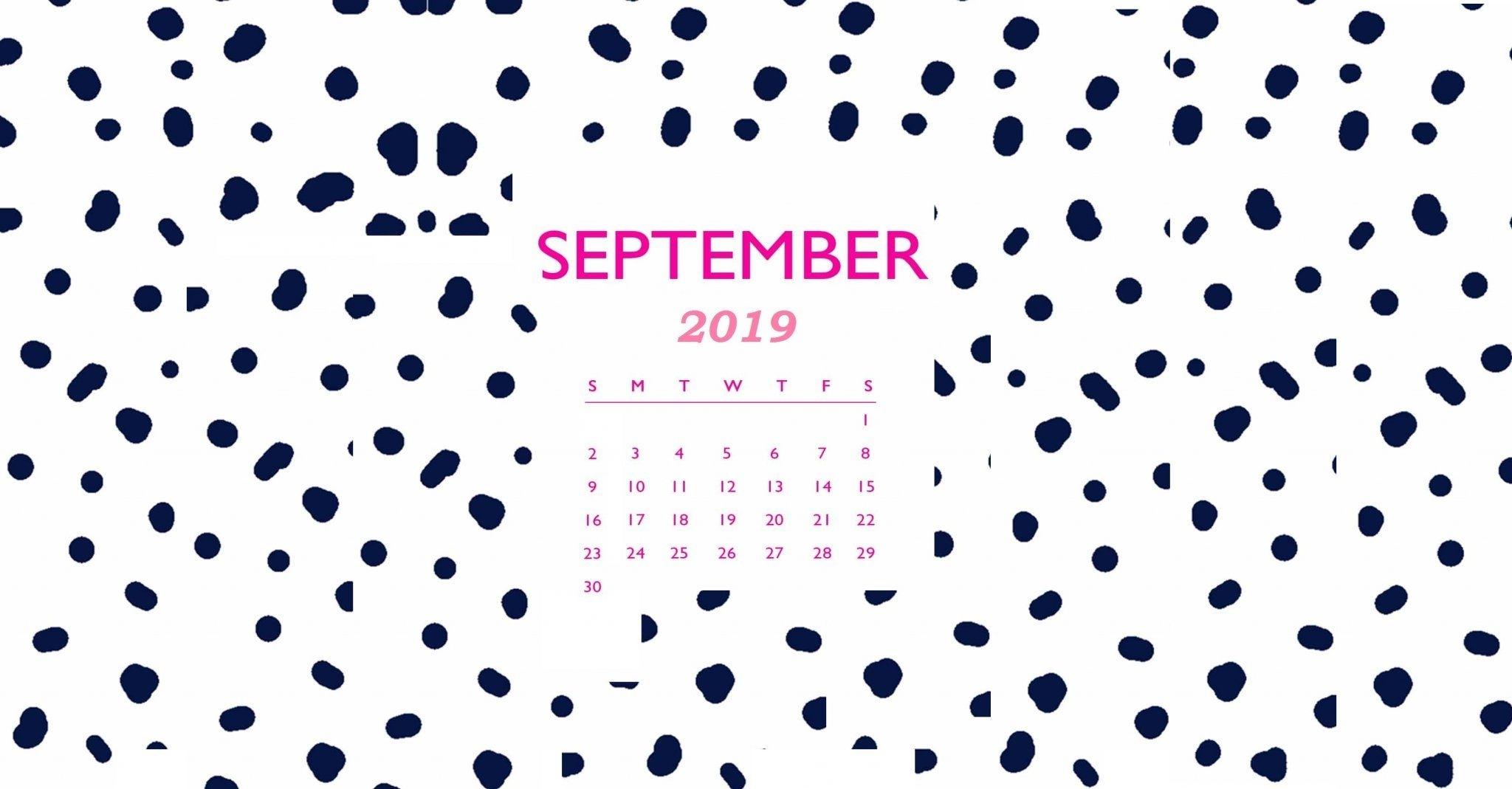 Desktop Calendar Wallpaper for September 2019