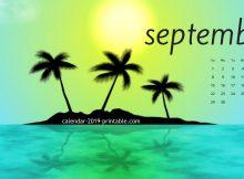 September 2019 Desktop Background Calendar
