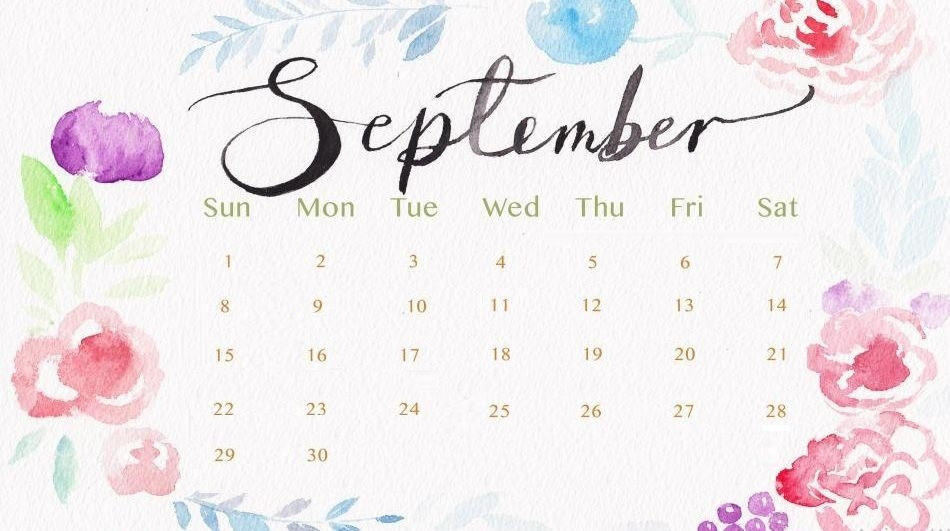 September 2019 Desktop Wallpaper Calendar