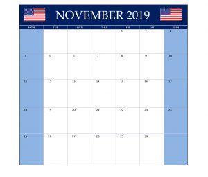 November 2019 United States Holidays Calendar