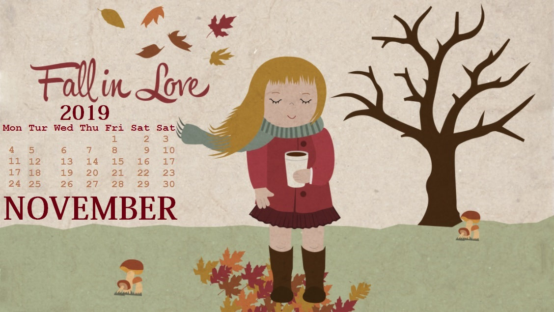 Desktop Calendar Wallpaper For November 2019