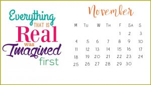 Inspirational November 2019 Calendar Template