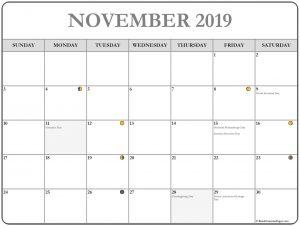 November 2019 Lunar Calendar
