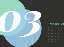 Cute March 2020 Desktop Calendar Wallpaper