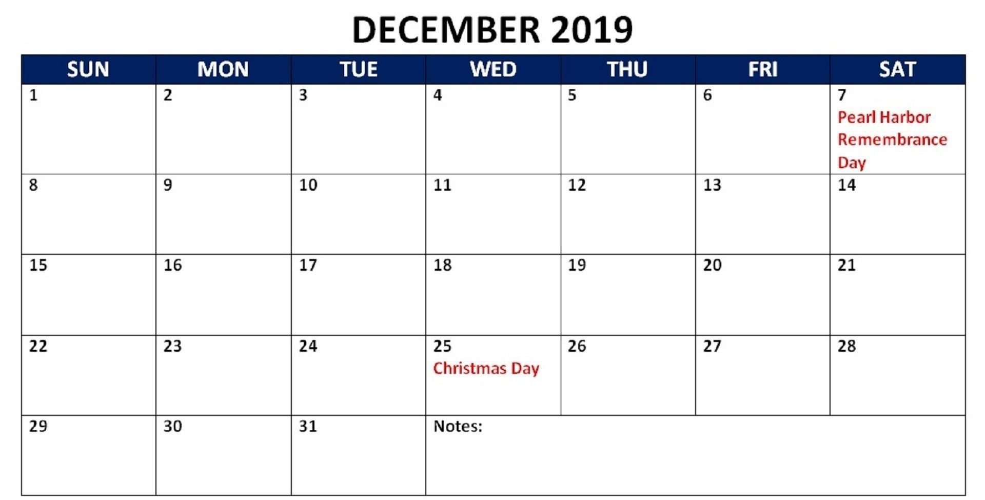 December 2019 Calendar Indian Holidays