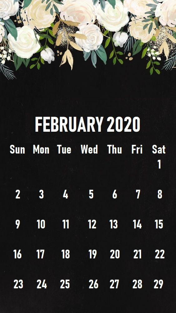 February 2020 iPhone Calendar Wallpaper