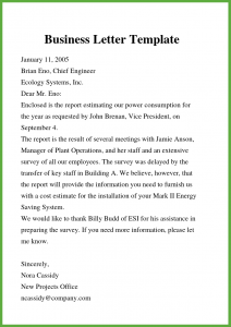 Free Business Letter Format in Word