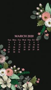March 2020 iPhone Calendar Wallpaper